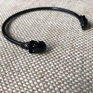 Jewelry - Double Skull Black Cuff Bracelet